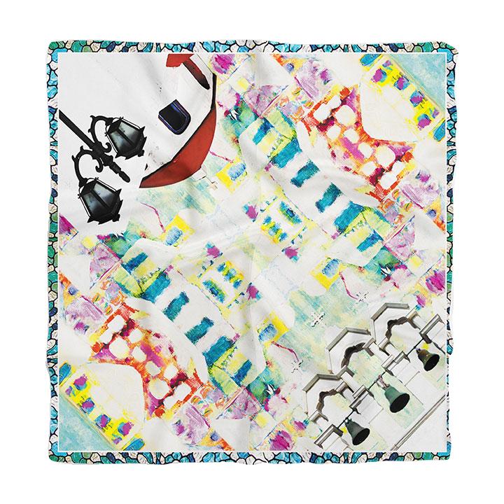 Vibrant Silks scarf Mykonos