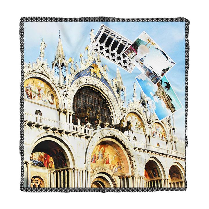 Vibrant Silks scarf St.Marks Basilica